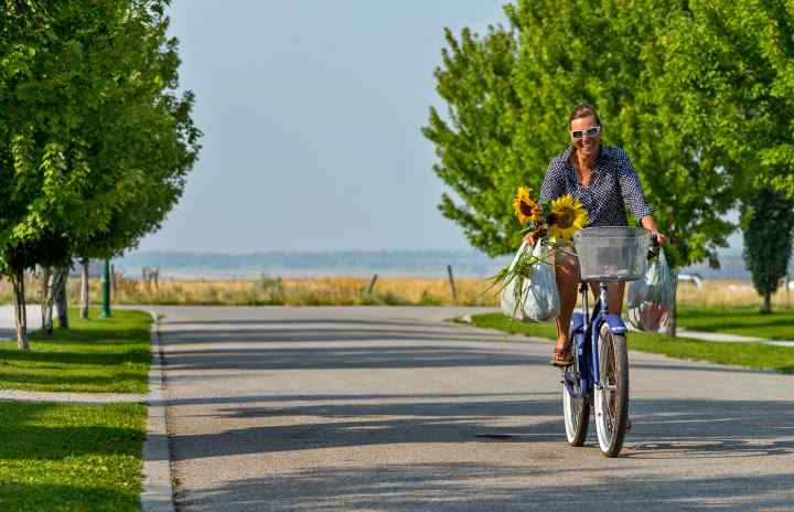 Biking with Produce
