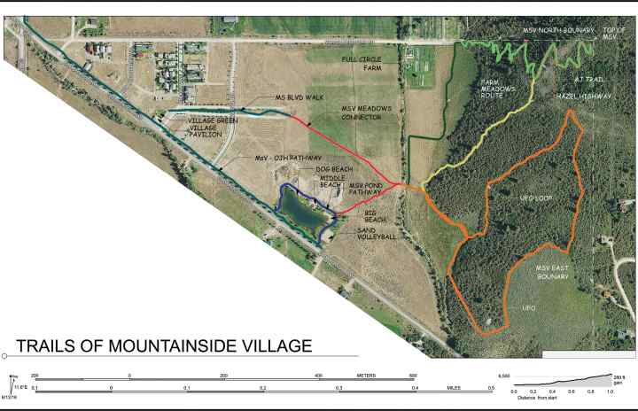 mountainside village victor idaho hiking trails